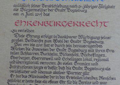 Ehrenbürger Schweizer Burkheim