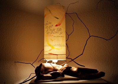 Lampe aus Schwemmholz