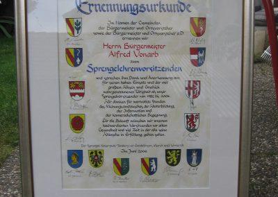 Urkunde Sprengel