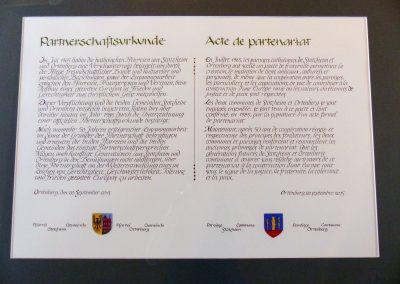 Partnerschaftsurkunde D deutsch-französisch