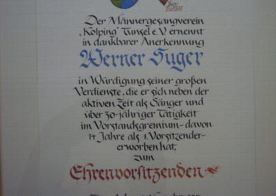Ehrenvorsitz Gesangverein