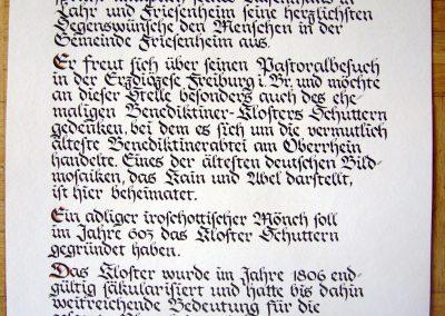 Urkunde Gästebucheintrag Papst
