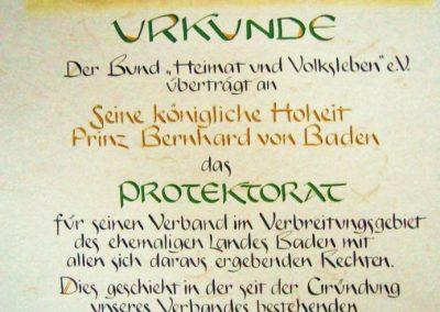 UrkundeProtektorat Prinz Von Baden